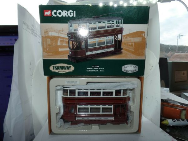 CORGI CC25204 1/72 Scale Double Deck BOLTON CORPORATION TRAM  Horwich BOXED Cert